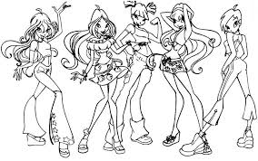 Small Picture Winx club coloring pages all characters ColoringStar