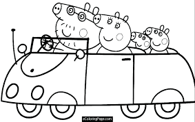 Pepa Pig Coloring Pages Pig Coloring Pages Me Pertaining To
