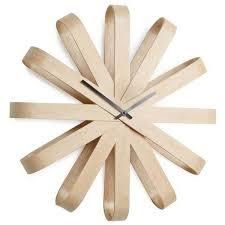 umbra ribbonwood wall clock natural by