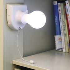 1pc white stick up lights cordless wireless battery operated night light portable bulb licht cabinet closet