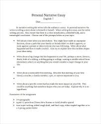 essay examples in doc personal narrative essay