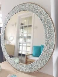 large round sea glass mirror isle of