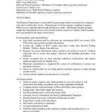 Customer Service Representative Duties For Resume New Resume Job ...