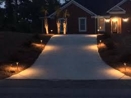 outdoor lighting makes a grand entrance in forest acres outdoor driveway lighting