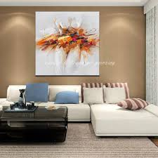 Modern Art Paintings For Living Room Aliexpresscom Buy Handpainted Oil Painting On Canvas Modern