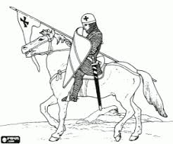 Small Picture Knights and Warriors coloring pages printable games