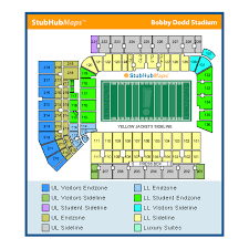 Ga Tech Stadium Seating Chart Georgia Tech Bobby Dodd Stadium Events And Concerts In