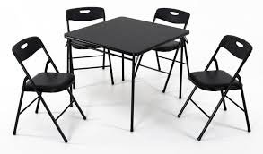 Cosco Products 5 Pc Folding Table And Chair Set Black
