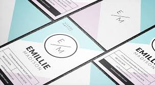 Free Modern Templates Free Modern Soft Feminine Business Card Template