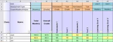 Student Progress Excel Spreadsheet
