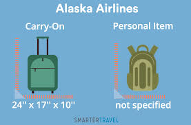 alaska airlines carry on vs personal item dimensions