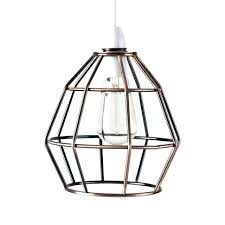 copper light shade copper light shade contemporary brushed copper metal basket cage designer style pendant ceiling white and