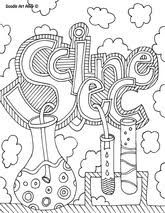 coloring pages for science