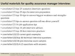 Top 5 Quality Assurance Manager Cover Letter Samples Best Solutions
