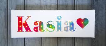 Baby Name Sign Rainbow Led Lamp Customized Canvas 1st Etsy