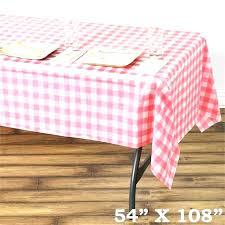disposable round table cloth disposable table cloth gorgeous checd plastic cover white pink round tablecloths wedding
