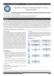 Pdf The Effectiveness Of Mirror Therapy Among Stroke