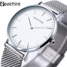 New ultra slim Top GEEKTHINK brand <b>Quartz Watch Men</b> Casual ...