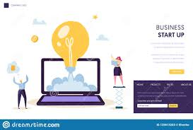 How To Start A Design Project Startup Creative Idea Start Landing Page Template Light