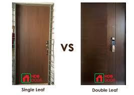 single leaf vs double leaf door fire rated door supplier in singapore