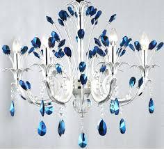blue crystal chandeliers chandelier uk