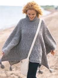 Free Knitted Poncho Patterns Best Cozy Artisan Poncho AllFreeKnitting