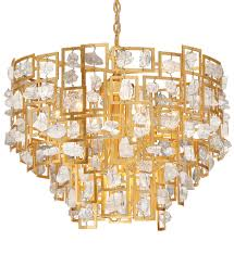 eurofase 30069 015 elrose gold leaf 9 light chandelier undefined