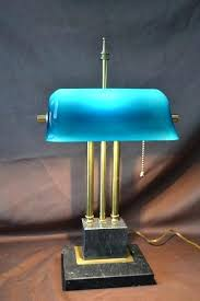 blue bankers lamp antique blue art bankers desk lamp cased glass shade w marble base blue blue bankers lamp advocate bankers desk lamp blue glass shade