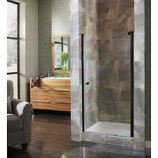 wide hinged frameless shower door