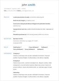 Basic Resume Examples Kamenitzafanclub Com