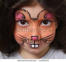 mouse face painting pretty with face painting of a mouse stock photo makeup