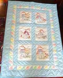 Amish Baby Quilts Amish Baby Or Infant Quilt Hand Quilted And ... & Handmade Baby Quilt For Sale Hand Quilted Baby Blankets Amish Baby Quilt  Blue Farm Animals Hand Adamdwight.com