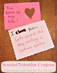 Valentines Gifts Spice Scented Valentine Coupons Red Ted Art