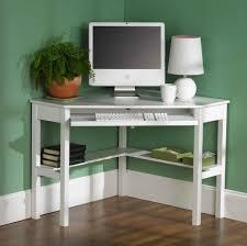 simple white corner computer desk design for small spaces modern desks uk