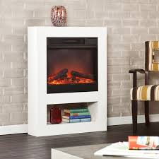 mofta electric fireplace mantel package in white fa7556 electricfireplacesdirect