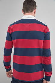red stripe rugby shirt