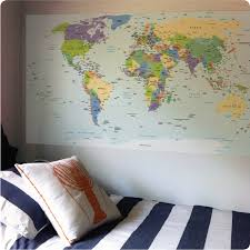 world map poster wall decal
