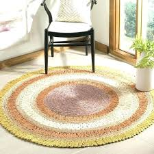 6 foot round jute rug hand woven natural fiber contemporary gold multi jute rug 5