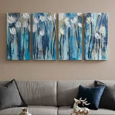 on wall art 4 piece set with ink ivy ocean breeze blossom canvas wall art 4 piece set
