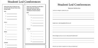 Student Led Conference Form Montessori Classroom Form Tpt