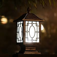 Online Get Cheap Outdoor Garden Lamp Post Aliexpresscom Solar Garden Post Lights