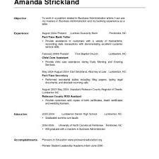 Bank Job Resume Objective