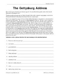 civil war daily life of a ier minute video worksheet the gettysburg address worksheet lesson planet
