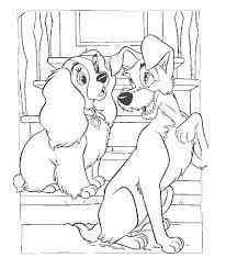 Lady En De Vagebond Kleurplaat Disney Kleurplaat Animaatjesnl