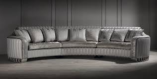 Silver Curved Sofa Luxury Curved Sofa Unusual Sofa Large Sofa Inside  Bespoke Large Corner Sofas (