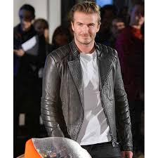 david beckham moto black leather jacket