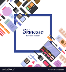 background with frame style makeup and vector image