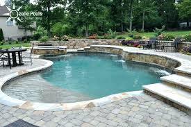 retaining wall pool ideas swimming with stone above ground caratsys