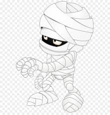 black and white line art cartoon sketch mummy transpa png clip art image