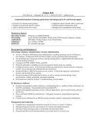 Sample Admin Resume Linux System Administrator Resume Sample Pernillahelmersson